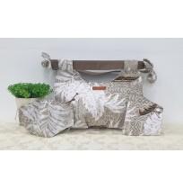 Short Handle Handmade Bag - Brown