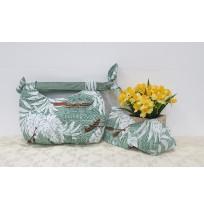Short Handle Handmade Bag - Green