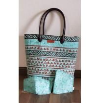 Aboriginal Art Tote Bag - Green